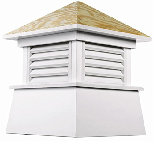 22'' Handcrafted ''Kent'' Wood and Vinyl Roof Cupola by CC Home Furnishings