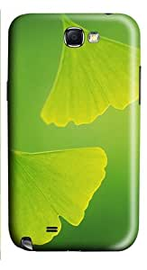 Two Leaves PC Case and Cover for Samsung Galaxy Note 2/ Note II/ N7100