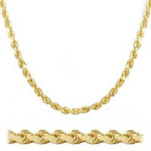 MENS 14K YELLOW GOLD FILLED 3MM ROPE CHAIN NECKLACE 30