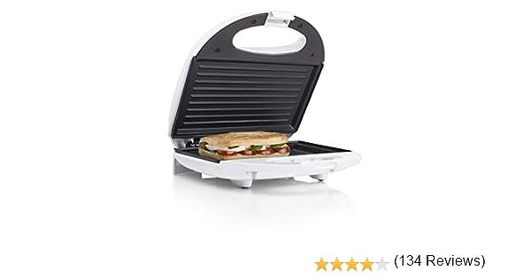 Tristar SA-3050 Sandwichera grill con placas de parrilla, tamaño ...