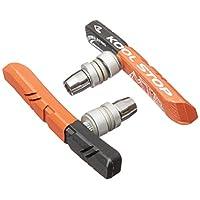 Almohadillas de montaña compuestas dobles Kool-Stop para frenos de tracción lineal roscados, negro /salmón