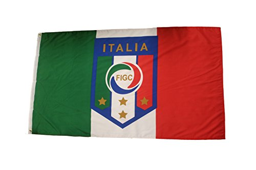 Italy Italia World Cup - Italia Italy Country Flag & FIFA World Cup FIGC Logo 3' x 5' Feet Flag Banner .. .. New
