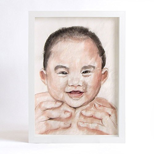 Original Watercolor Painting, Custom Child's Portrait from Your Photo, Illustration and Drawing by Watermom