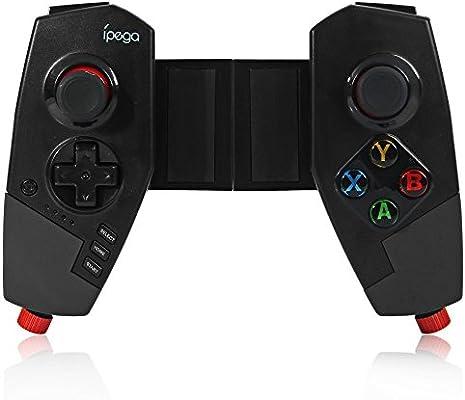 Inalámbirco Bluetooth Gamepad, Controlador de ajuego Telescópico para Android iOS Phones, Tablets, TV Box, PC, Controlador Joypad del juego Portátil Palanca de Mando, Negro: Amazon.es: Informática