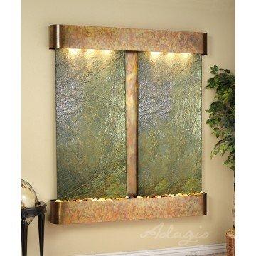 Adagio CF 1002 Cottonwood Falls Wall Fountain - Green Natural Slate