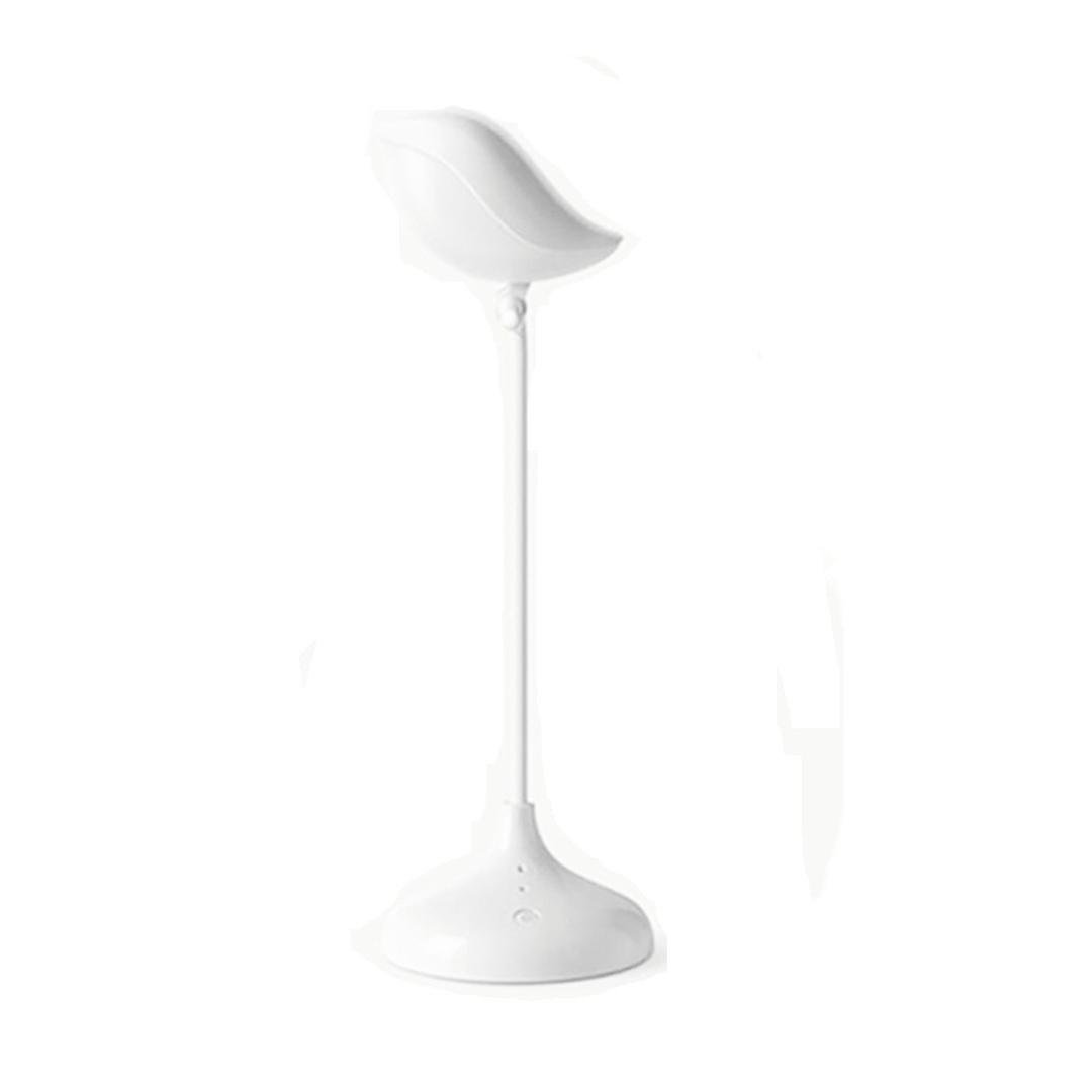 Becoler Cute Bird Led Desk Lamp with 3 Dimming Levels and Touch Control USB Charging Desk Light Reading Lamp LED Night Lights Table Light,Adjustable Styling(White)