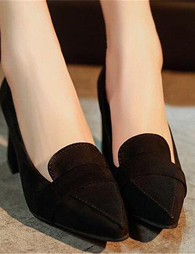 GGX/Damen Schuhe Synthetik Chunky Absatz Heels Heels Büro & Karriere/Casual Schwarz/Grau black-us8.5 / eu39 / uk6.5 / cn40