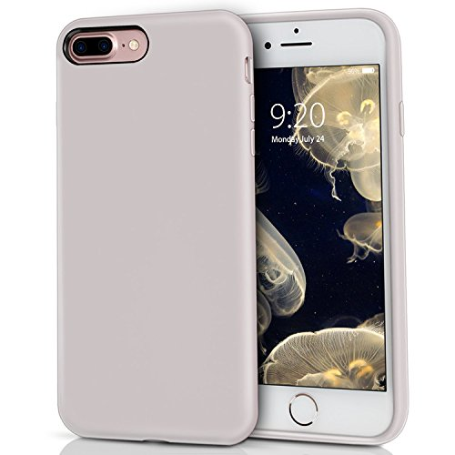 Milprox Silicone Case  Pretty Series Liquid Silicone Gel Rubber  Shockproof Case With Microfiber Cloth Lining Cushion For Iphone 7 Plus 8 Plus   Light Purple