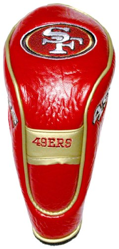 Team Golf NFL San Francisco 49ers Hybrid Golf Club Headcover, Velcro Closure, Velour lined for Extra Club Protection