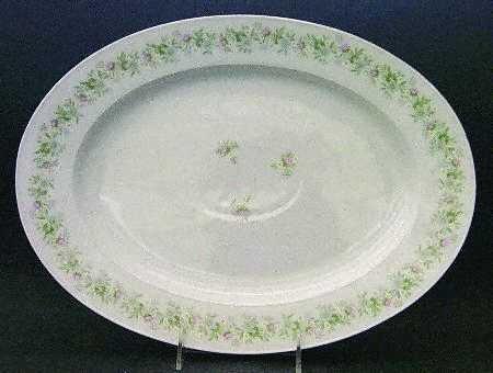"Johann Haviland Forever Spring Large 14 3/4"" Oval Serving Platter"