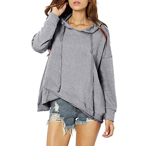 Hot Clearance! Women Long Sleeve Hoodie Tops Daoroka Ladies Sexy Lace Up O Neck Patchwork Ribbons Casual Loose Pullover Blouse Fashion Cute Autumn Winter Comfort Soft Tunic Shirt