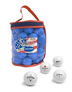 Second Chance 50 Lake Golfbälle und PVC Aufbewahrungstasche, roter und blauer...