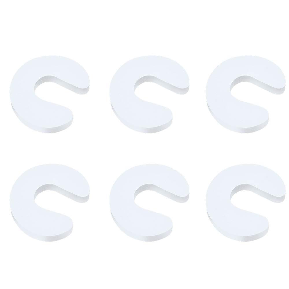 Aofocy 6 prot/ège-doigts de porte en EVA doux et durables pour b/éb/é emp/êche les blessures par pincement au doigt dans la chambre blanc