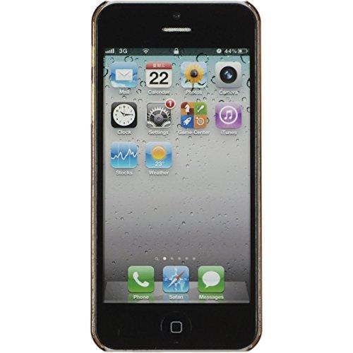 PhoneNatic Case für Apple iPhone 5 / 5s / SE Hülle schwarz Candy Hard-case für iPhone 5 / 5s / SE + 2 Schutzfolien