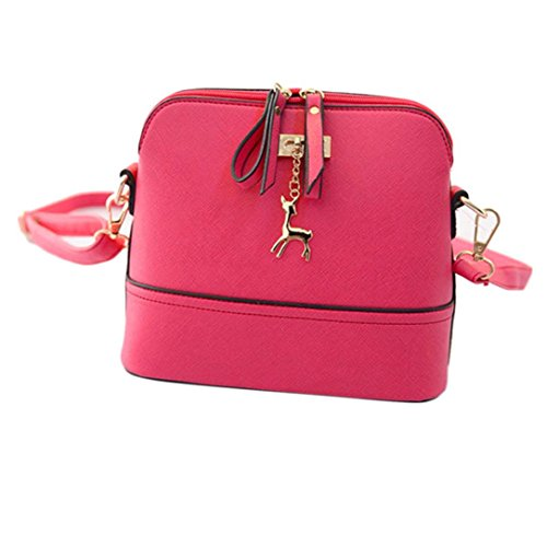 Casual Bag Bag Shoulder Jamicy Women Pink Small Leather Vintage Shell 5qE1xxwaA