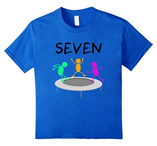 Price comparison product image Kids 7 Year Old Trampoline Birthday Party 7th Birthday T-Shirt