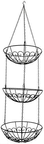 khevga Obstkorb hängend Hängeregal Höhe individuell einstellbar - die Küchenampel zum Hängen im Landhaus-Stil