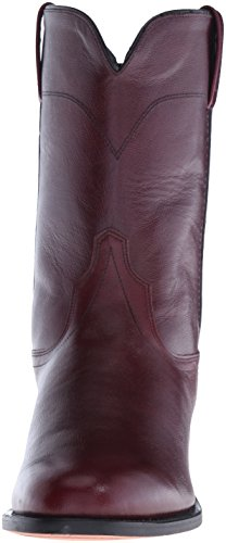 Stivale Cowboy Roper In Pelle Old West Uomo - Srm4051 Black Cherry