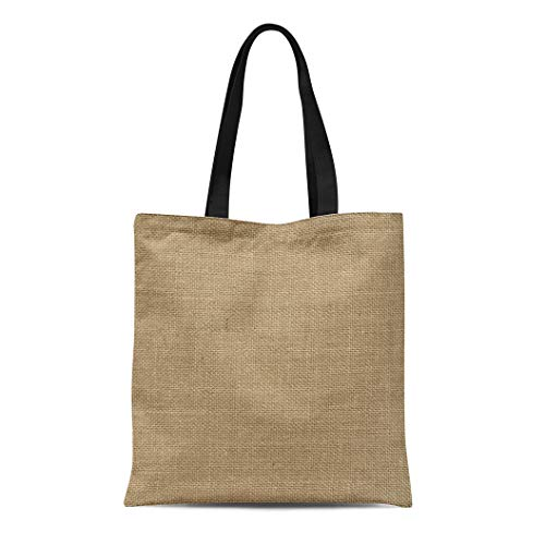 (Semtomn Canvas Tote Bag Shoulder Bags Braid Beige Burlap Natural for the Brown Abstract Canvas Women's Handle Shoulder Tote Shopper Handbag)