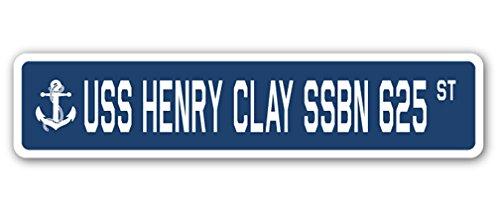 USS Henry Clay SSBN 625 Street Sign us Navy Ship Veteran Sailor - Clay Uss Henry
