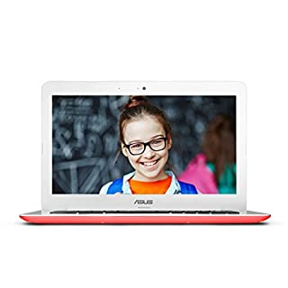 ASUS Chromebook C300SA 13.3 Inch (Intel Celeron, 4GB, 16GB eMMC, Red) (Renewed)