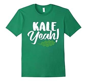 Mens Kale Yeah vegan font with vegetables 2XL Kelly Green