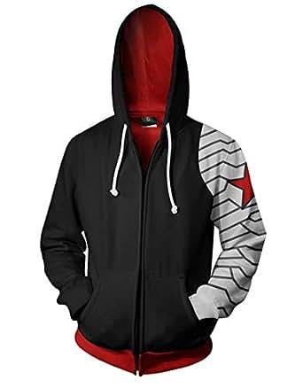 Amazon.com: Mens Winter Soldier 3D Printed Hoodies Hero