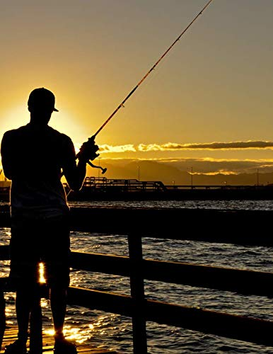 Notebook: Fishing man water fisherman holidays people shark tuna salmon bony fish trout eel