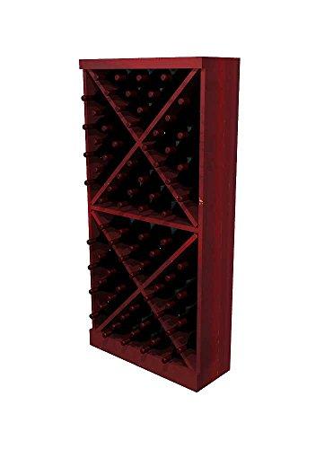 - Winemaker Series Wine Rack - Solid Diamond Cube - 4 Ft - Pine Classic Mahogany Stain