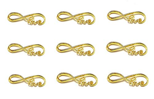 40pcs Infinity Love Symbol Connectors Charms Pendants for DIY Necklace Bracelet Jewelry Making Findings(Gold ()