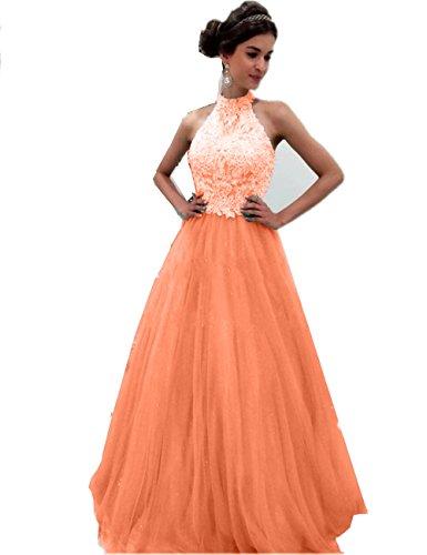 Senza A Donna Vestito Maniche Ad Promworld Orange Classico Linea qXafOgw
