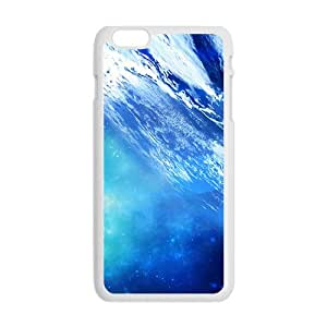 Blue Earth White Phone Case for Iphone6 plus
