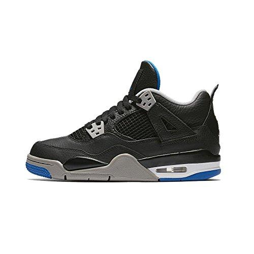 Nike Boys Air Jordan 4 Retro BG Basketball Shoes Black 5 Medium (D) Big Kid