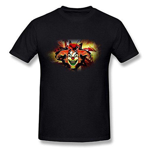 Krissry Mens Halloween Horror Nights 25 Jack The Clown T-Shirt Black (Halloween Horror Nights Jack The Clown Show)