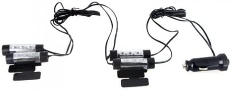 Itian 4 X 3 Auto Led Innenbeleuchtung Lichter Atmosphäre Glow Interior Dekorative Lampe Blau Auto