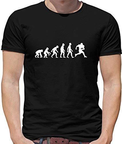 4c0722b4 Evolution of Man - Mens American Football T shirt - Mens T-Shirt-Black