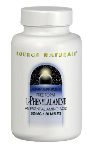 Source Naturals L-Phenylalanine 500mg,  An Essential Amino Acid, 100 Tablets