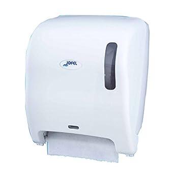 Jofel AG17550 Azur Dispensador de Papel Continuo, Automático Top, Pilas y Red, Blanco: Amazon.es: Industria, empresas y ciencia