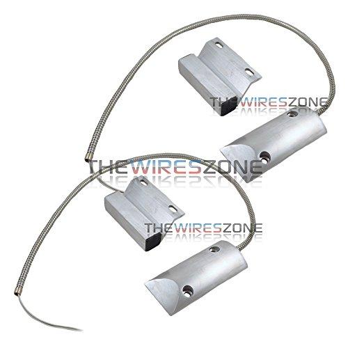 2 Pack Overhead Door Floor Garage Shutter Contact Sensor Security Alarm Switch