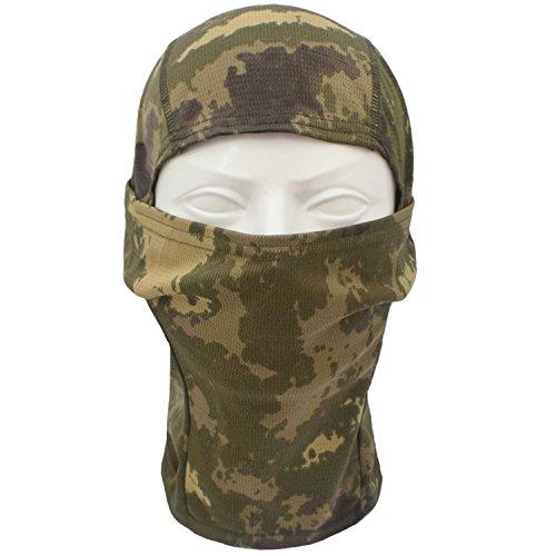 TClian Camouflage Balaclava Full Face mask Ninja hood Millitary Camo Tactical Airsoft Paintball Helmet liner Gear Hunting Motorcycle Cycling Face Masks (Halloween Bandana Face Paint)