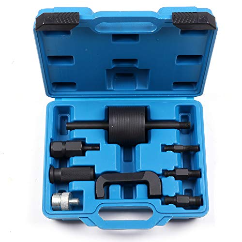 (SCITOO Fit Mercedes Benz CDI 611/612/613/646/647/648 Remover Puller Injector Extractor Tool Kit with 1 Slide Hammer 3 Adapter)
