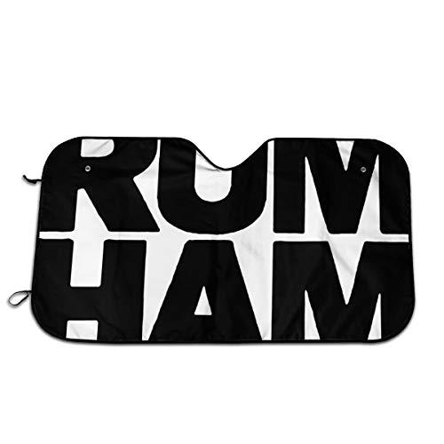 Rum Ham Car Windshield Sun Shade Car Sunshade-Keep Your Vehicle Cool. UV Sun and Heat Reflector