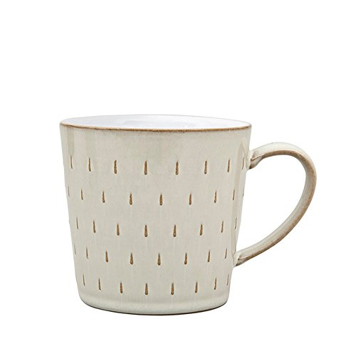 Denby Linen Cascade Mug, Cream