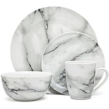 Godinger Silver Art Marble Design 16 Piece Dinner Set  sc 1 st  Amazon.com & Amazon.com | Godinger Silver Art Marble Design 16 Piece Dinner Set ...