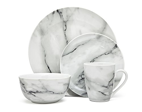 Godinger Silver Art Marble Design 16 Piece Dinner Set