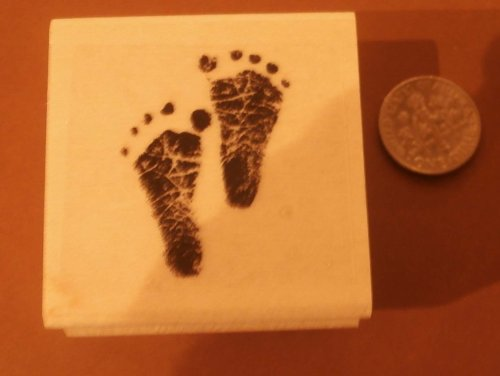 [Small Baby feet rubber stamp WM 1.5x1