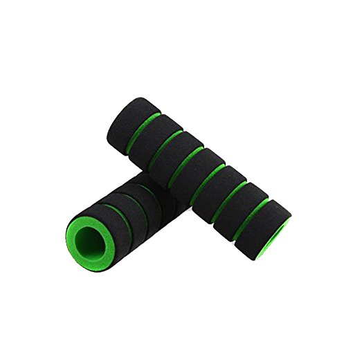 UMFun1pair Bike Racing Bicycle Motorcycle Handle Bar Foam Sponge Grip Cover Non-slip (Green)]()