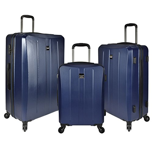 U.S. Traveler Highrock 3-Piece Hardside Spinner Set, Navy by U.S. Traveler