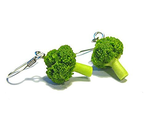 Broccoli Earrings - Tiny Food Jewelry