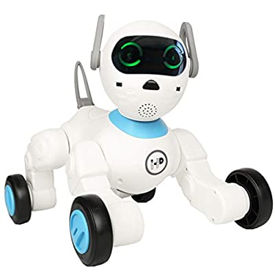 Dnine Smart Robot Dog Billy,APP Controlled Game Feed-Growing-up System Interactive Puppy Cute Intelligent Pet Toy Gift for Kids with Bracelet,Voice and Touch Control,Location Follow
